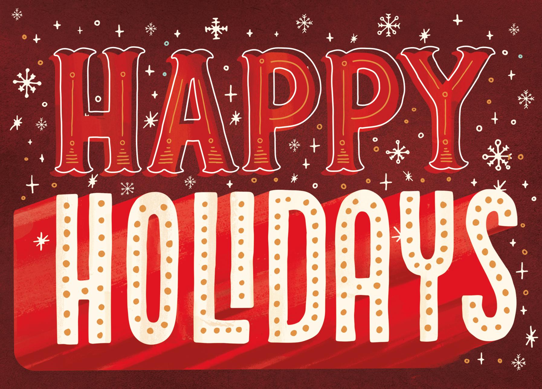 Joanna Behar Happy Holidays Holiday Calligraphy Seasons Greetings Quotes Holiday Fonts
