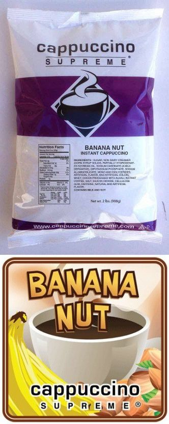 Banana Nut Cappuccino Mix Instant Coffee Banana Nut Chocolate