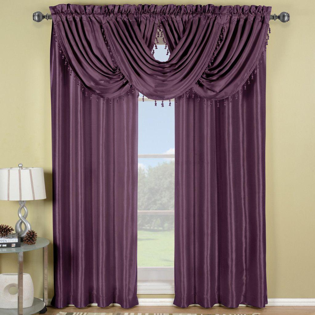 Purple Soho Waterfall Window Treatment