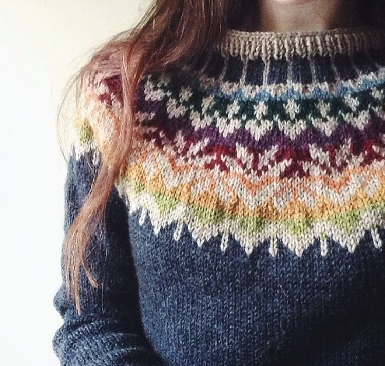 what would these look like on the purl side? Fair isle stranded ...