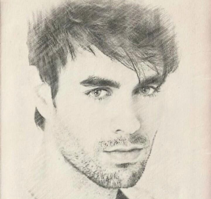 This Is Awsome Enrique Iglesias Male Sketch Male Face