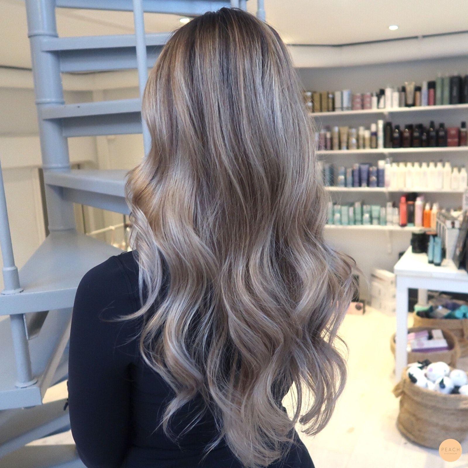 brun grå hårfärg