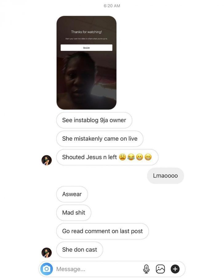 See The Face Of Instablog Owner As She Mistakenly Reveal Herself (PHOTO)