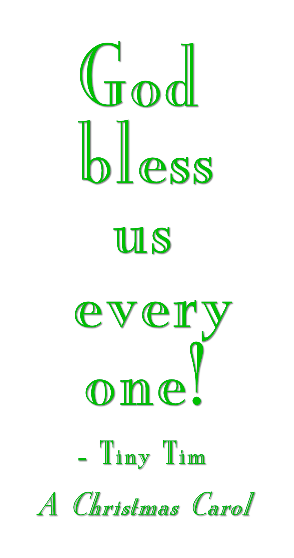 God bless us everyone! - One of the most quoted lines in all of ...