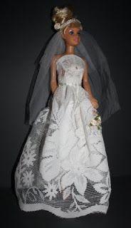 Bridal dress for Barbie.  ASSAs hobby