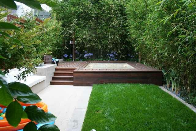 Above Ground Spa Deck Hot Tub Landscaping Above Ground Pool