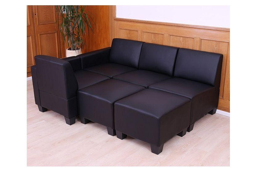 Modular 2 Sitzer Sofa Couch Lyon Kunstleder Rot Ohne Armlehnen Moderne Couch Sofa Couch Sofa
