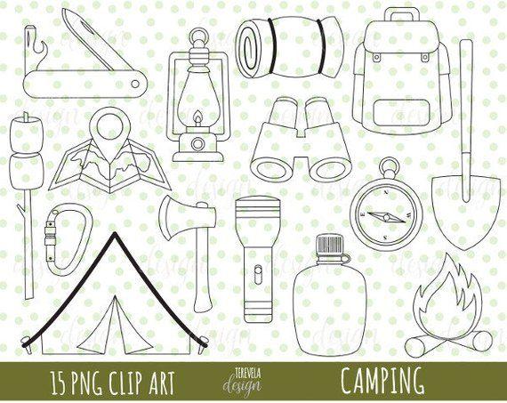 50 Sale Camp Digital Stamp Commercial Use Digital Stamp Camp
