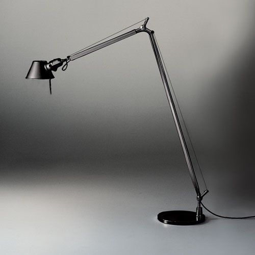 Tolomeo Reading Floor Lamp I Have One Of This To Add To The Mix I Use It With My Knock Off Barcelona Chair For Playing Guitar Leeslamp Verlichting Meubels