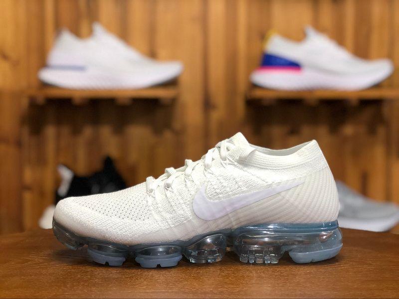 cea23096296f5 2018 Nike Air Vapormax Flyknit 2.0 Mens Sport Shoes White 849558-100 Nike  Air Vapormax