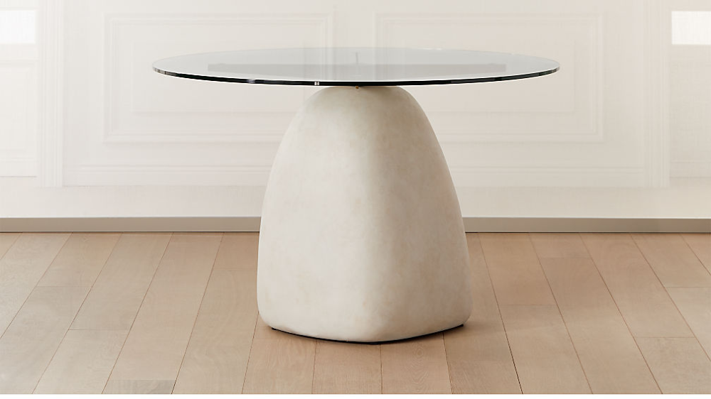 Stone Table Round 47 In 2020 Glass Top Side Table Furniture
