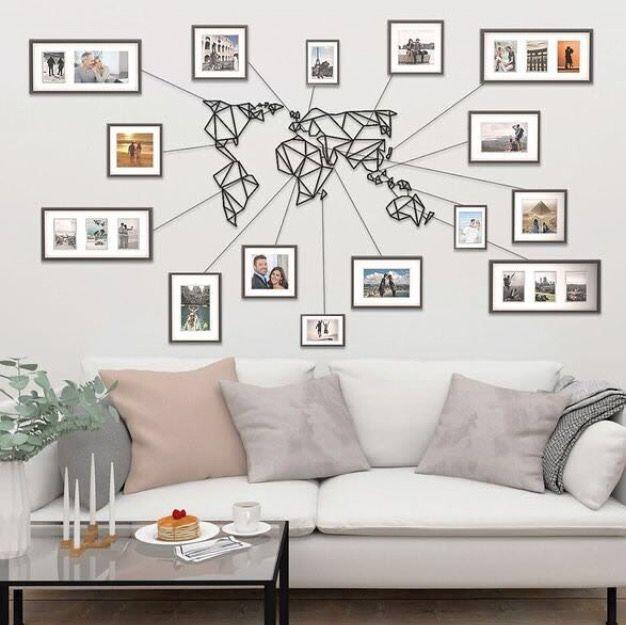 Déco Métal Carte Monde Home En 2019 Carte Du Monde Deco