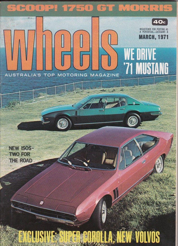 40th Birthday Idea March 1971 Wheels Magazine Anniversary Gift For Him  Husband Gift Idea Vintage Car