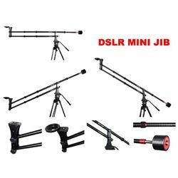 Aluminum Alloy Jib Arm Camera Crane With 360 Degree Pan Ball Head Counter Weight 1 4 And 3 8 Inch Quick Release Plate Camera Slider Dslr Video Mini