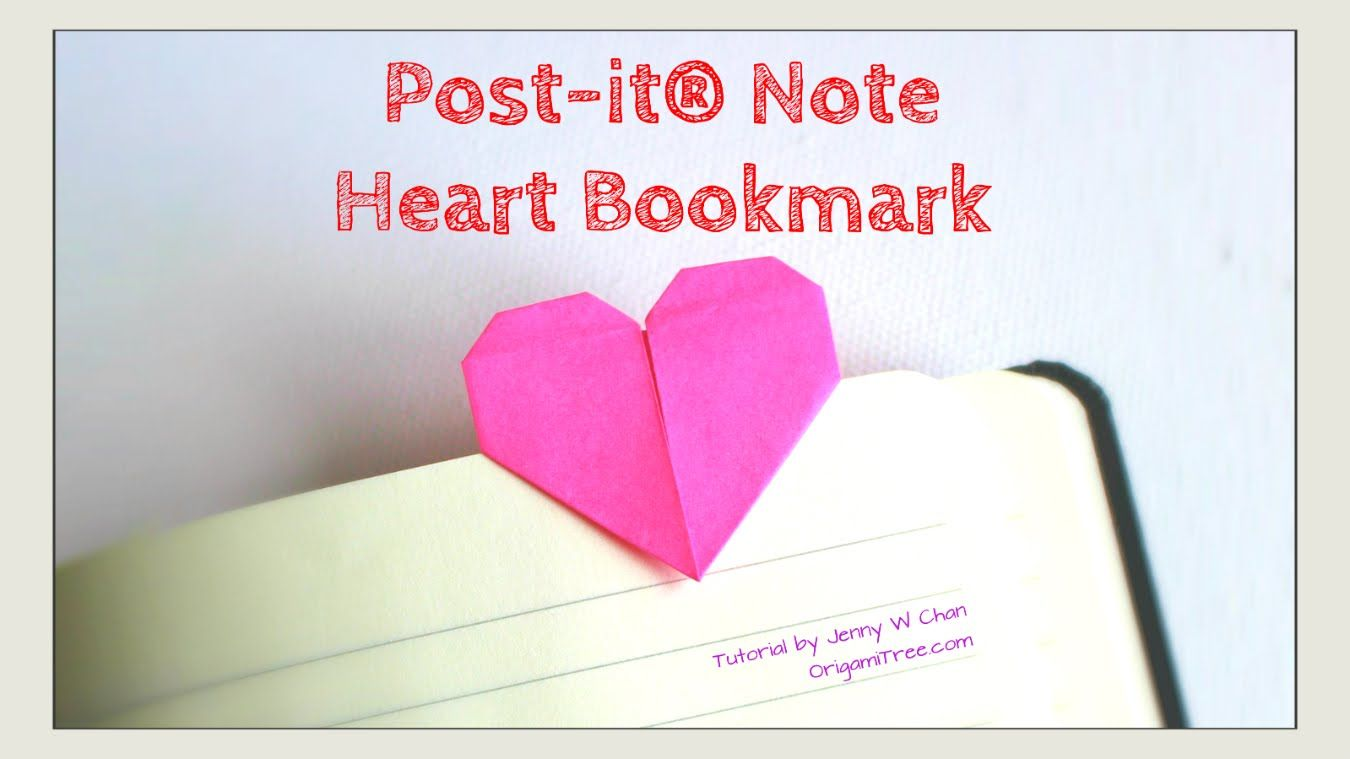 Valentines day crafts diy heart bookmark post it notes origami valentines day crafts diy heart bookmark post it notes origami heart jeuxipadfo Images