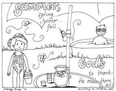 God Made The Summer Coloring Page Summer Coloring Pages Summer Coloring Sheets Bible Coloring Pages