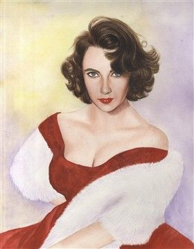 Elizabeth Taylor Watercolor Limited Editions