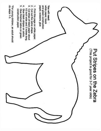 Zebra Template For Painting On Stripes Zoo Preschool Preschool Zoo Theme Zoo Crafts