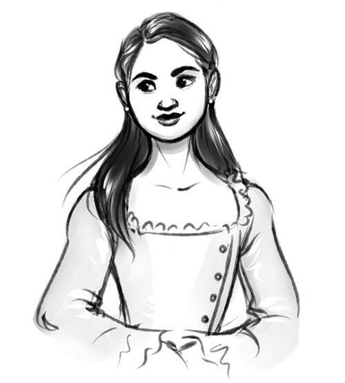 Eliza Hamilton ❤❤❤ love her she is so kind  And her and Alexander #hamilton #eliza #draw