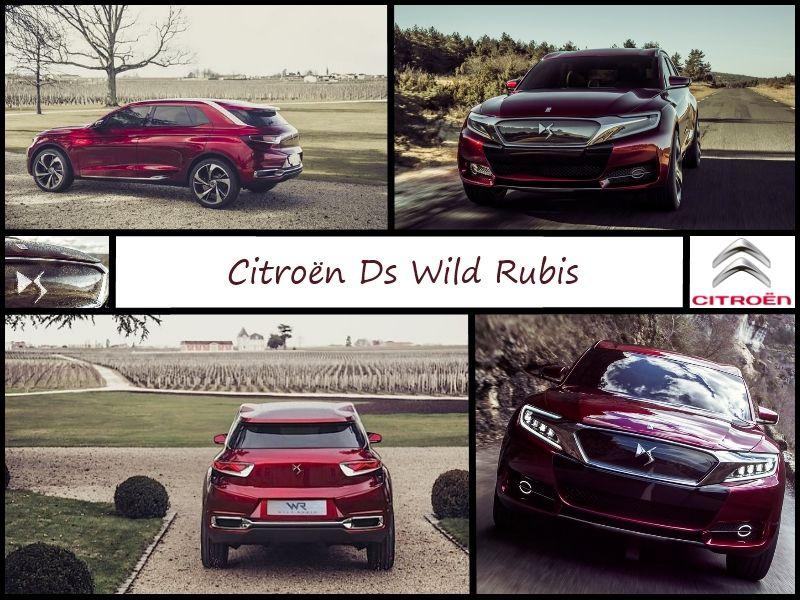 Montage pour le concept Wild Rubis de Citroën, avec sa couleur changeant en fonction de la lumière.