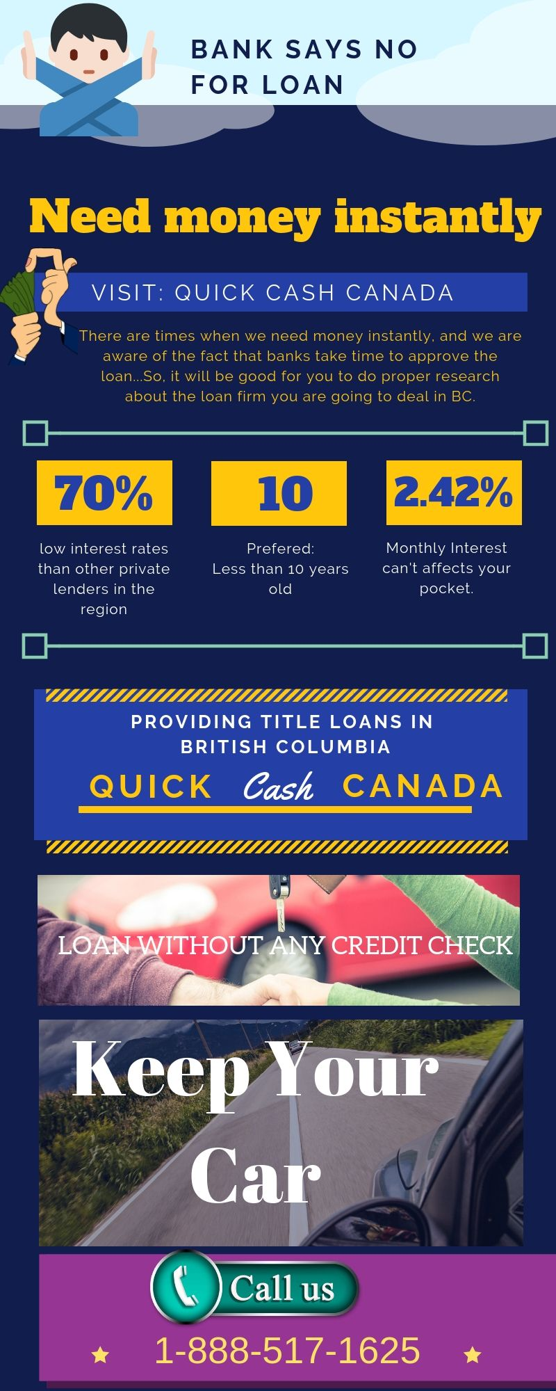 Quick Cash Canada is providing instant money through Car