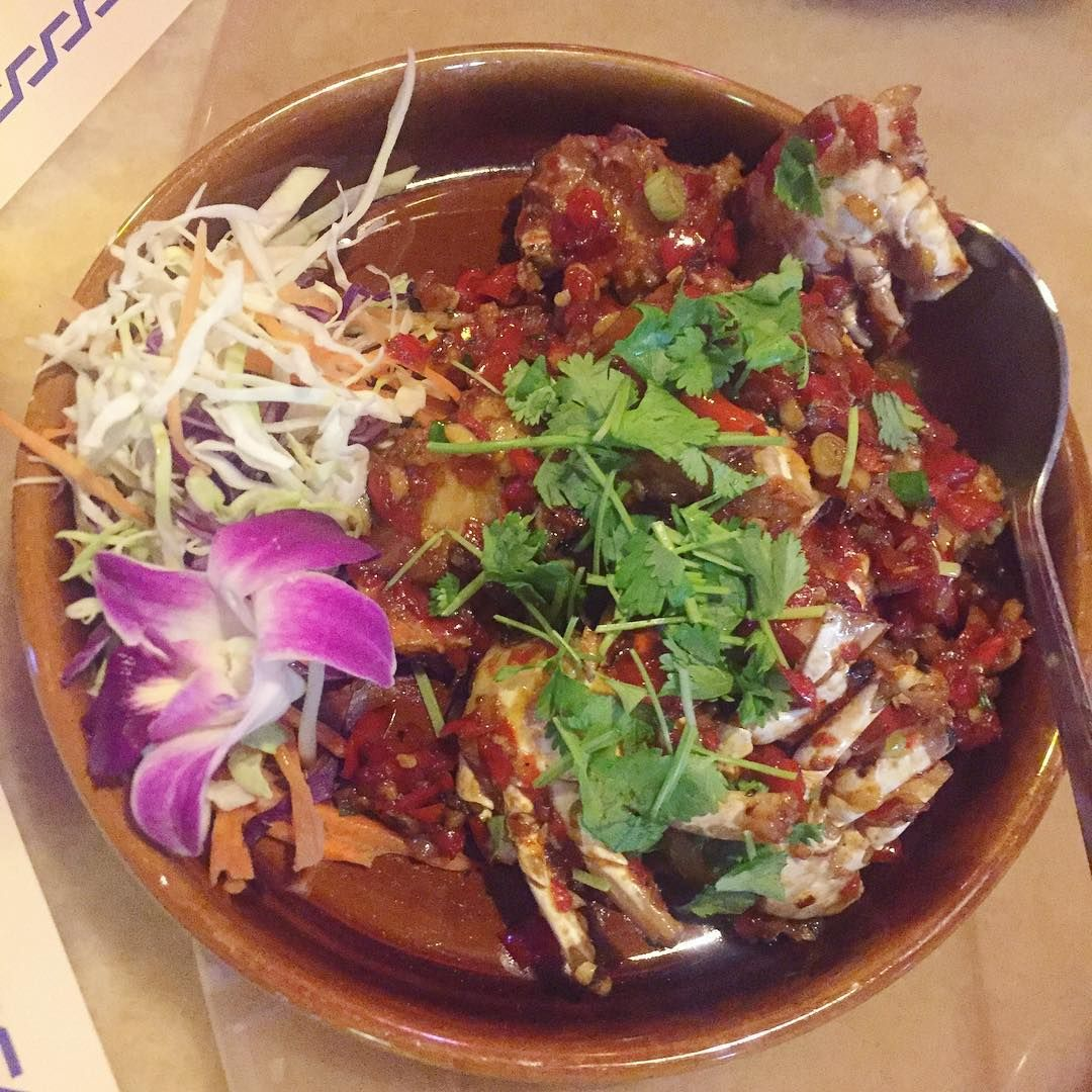 For The Love Of Asian Food Authentic Thai To Be Specific Chili Crabs From Wangthairestaurant In A Da Oos In Adli Asian Recipes Authentic Asian Recipes Food