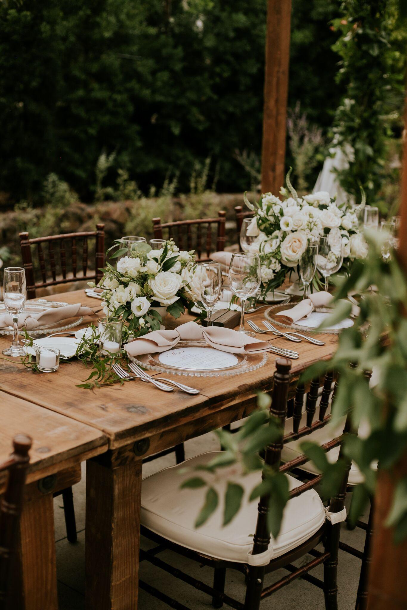 More Rentals Inc San Diego Table Rentals San Diego Wedding Rentals Southern C Garden Theme Wedding Wedding Table Decorations Wedding Southern California