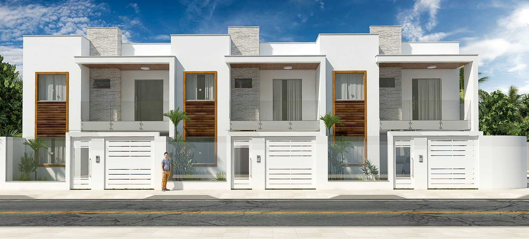 Resultado de imagem para modelo de casas modernas pequena for Fachadas de casas modernas de 2 quartos