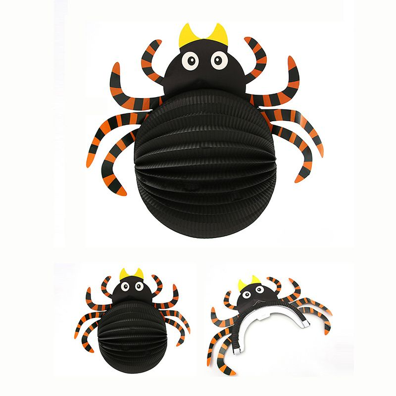 1PC Paper Spider Halloween Hanging Decoration Festival Supplies Funning Toys Props Pendant Tricks Party Accessories baby shower