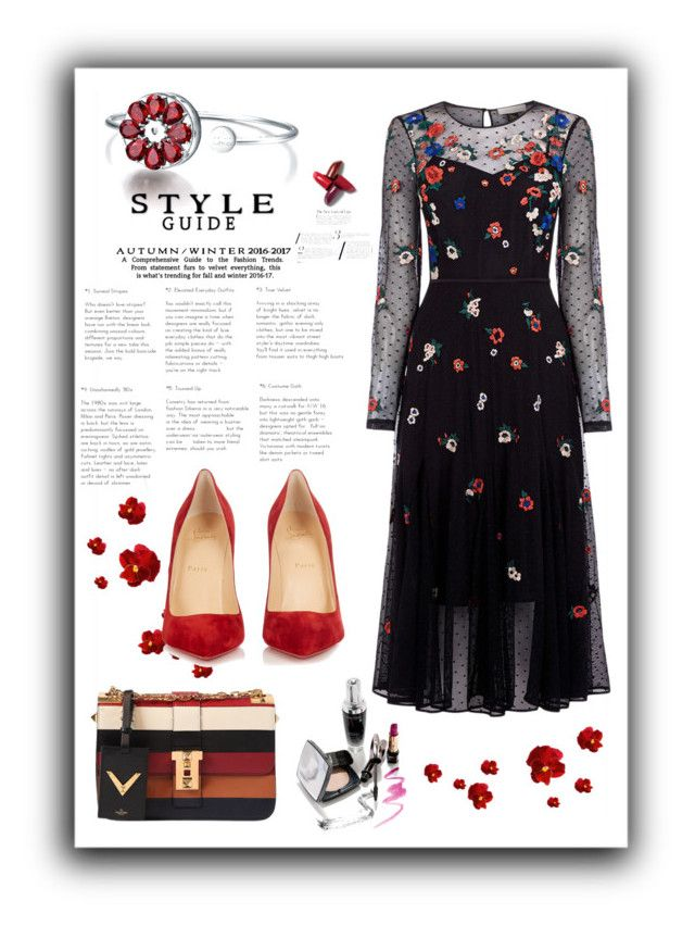 """Без названия #307"" by aishasheykh ❤ liked on Polyvore featuring Christian Louboutin and Valentino"
