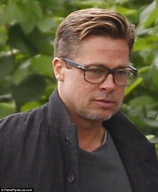 Brad pitt has his flowing locks cut for his new wwii film fury a dramatic change brad pitt has not had such short hair in several years urmus Choice Image