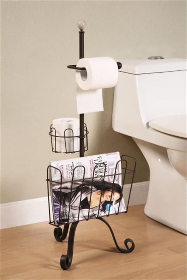 Clean Up The Clutter Of Toilet Paper Packaging And Tered Magazines Books With Bathroom Metal Floor Rack