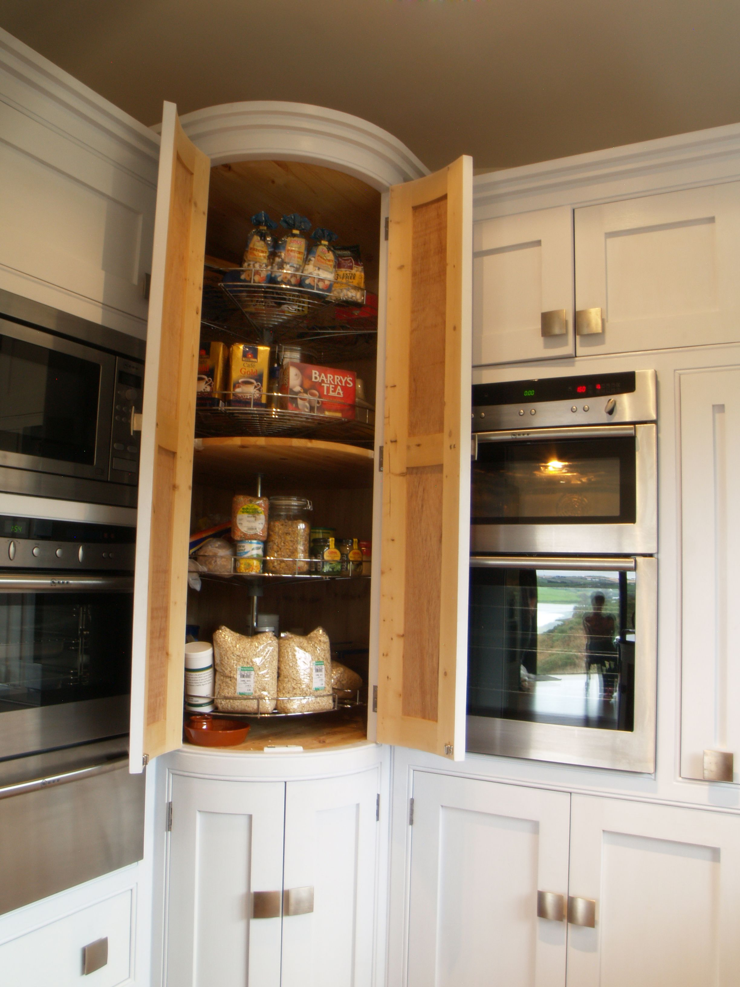 tight corner make use of your corner with our full height larder with full carousels never on kitchen cabinets organization layout id=14817