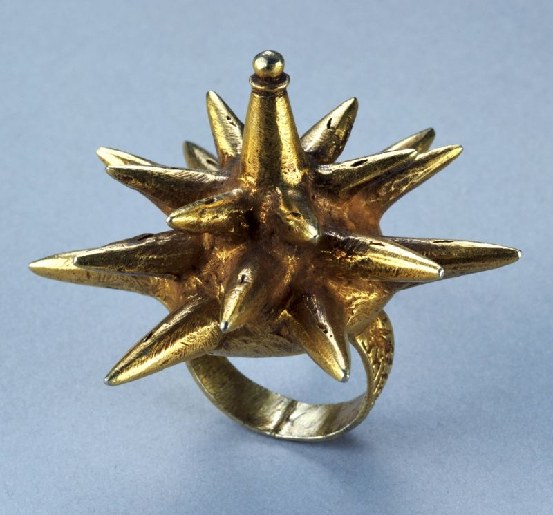 Finger or toe ring (mpetea) in the form of a starburst or cocoon (1998-639)   Princeton University Art Museum