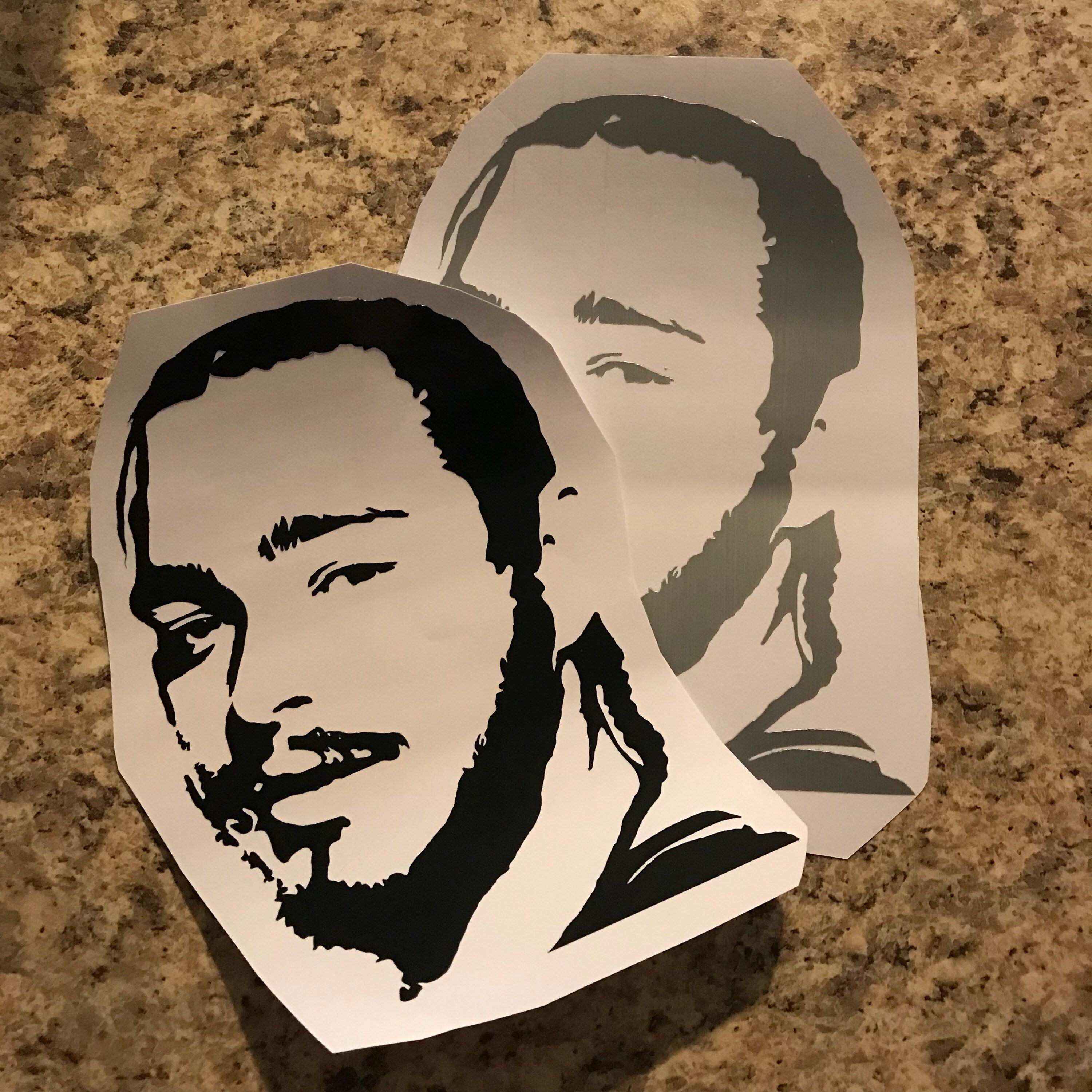Post Malone Clip Art: Post Malone Silhouette Vinyl Decal By MommyandEcreations