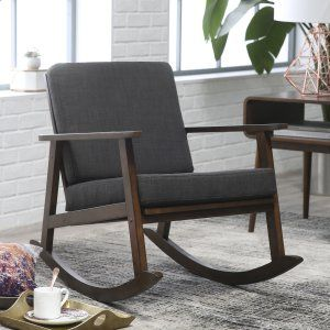 Belham Living McRae Mid Century Rocking Chair   Indoor Rocking Chairs At  Hayneedle. Upholstered ...