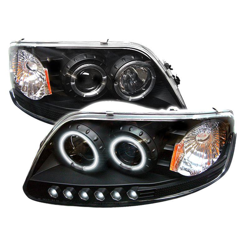 Ford F150 1997 2003 1pc Ccfl Led Projector Headlights Black Projector Headlights F150 Ford F150