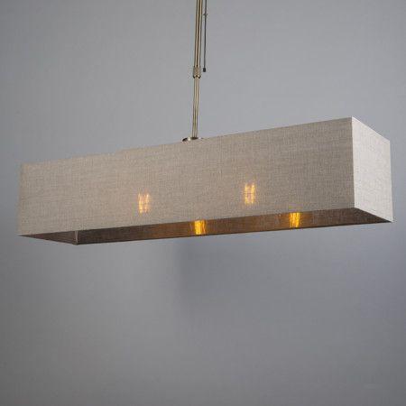 Lámpara colgante MIX 2 bronce regulable con pantalla