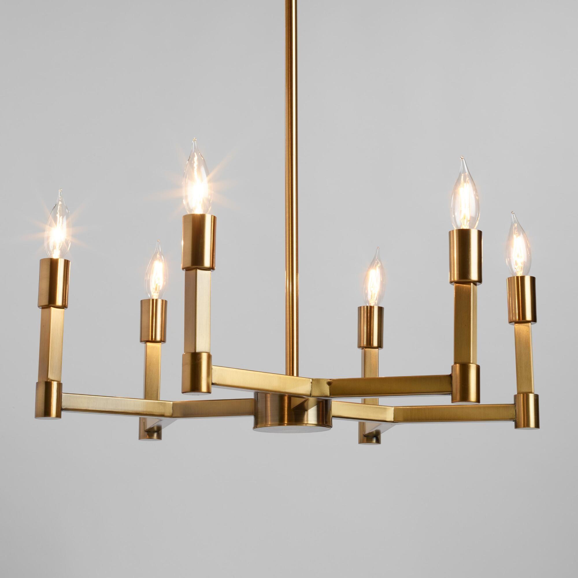 Gold Torch 6 Light Elsa Chandelier Kitchen Lighting Remodel