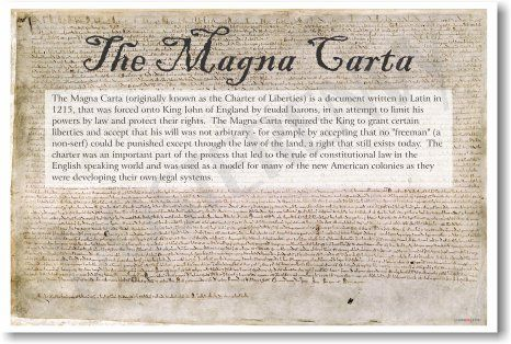 a history of the magna carta libertatum 2018-7-17 the magna carta was the first written document presented to king john of england by his subjects intended to restrict his power and protect their rights historians consider it a major milestone in the history of constitutional law from 1209 to 1215, a series of unsuccessful military campaigns.