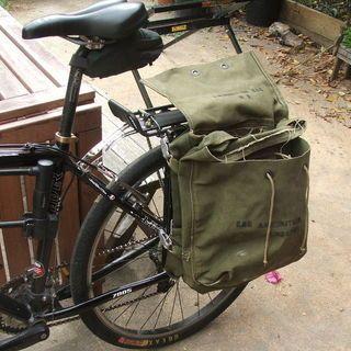 Bike Panniers From Surplus Army Bags Bike Panniers Pannier