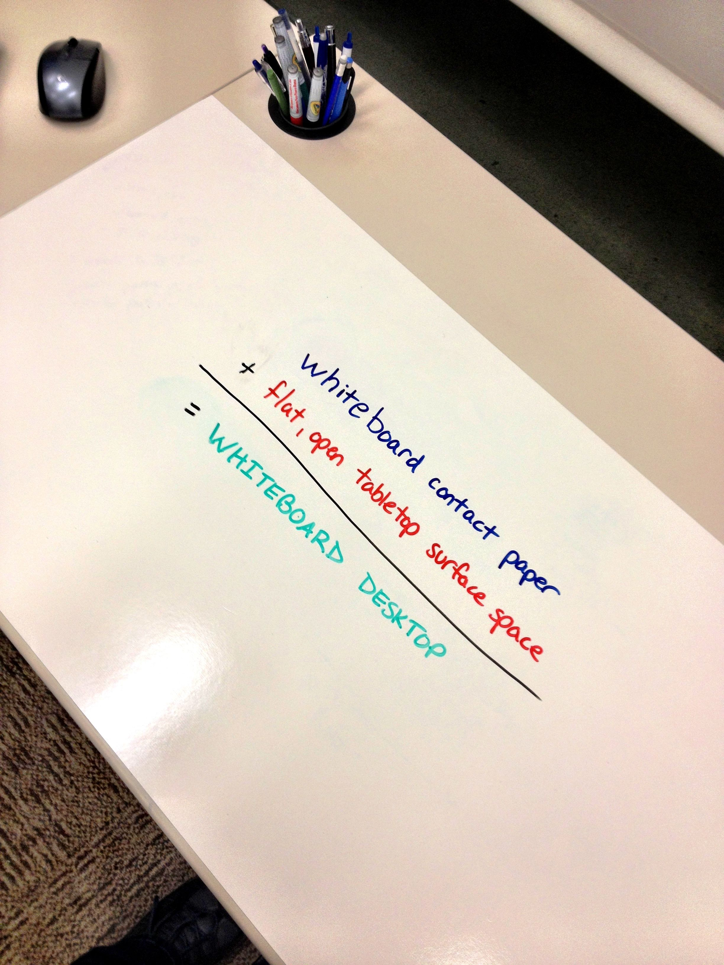 Save Paper By Sketching Writing On Your Desk Whiteboard
