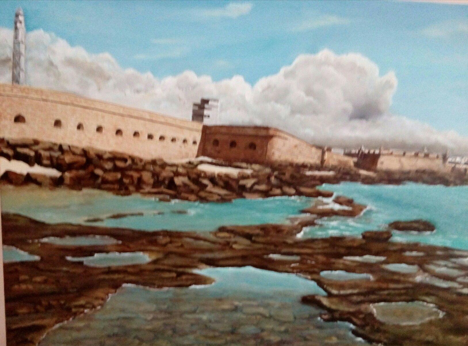 Castillo de San Sebastian acrilico y oleo | cuadros | Pinterest