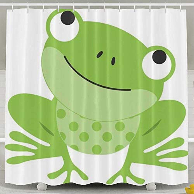 Jianyue Green Frog Shower Curtain Bathroom Curtains Bath