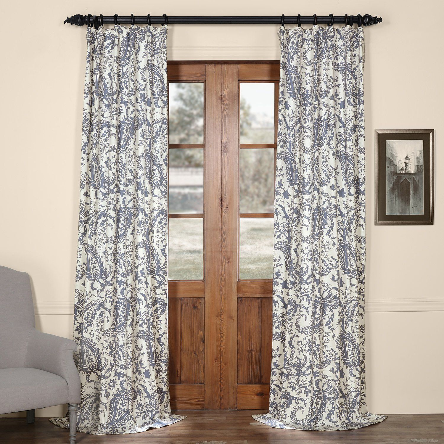 Amazon Half Price Drapes PRCT D09E 96 Edina Printed Cotton