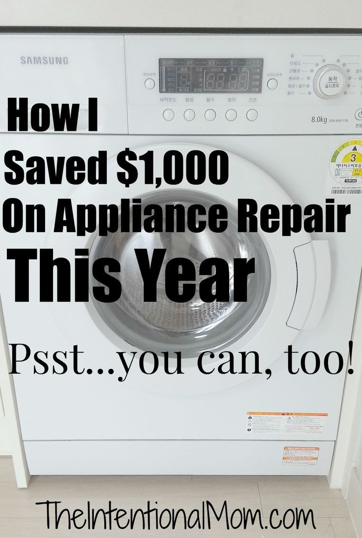 How I Saved 1,000 on Appliance Repair, and You Can, Too