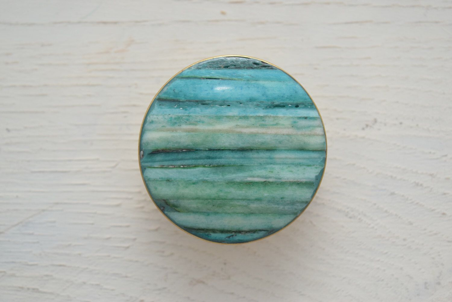 Fresh Turquoise Glass Cabinet Knobs