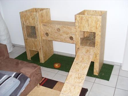 Unser Gehege Im Wohzimmer Sl380993 Jpg Kaninchenhaus