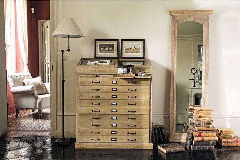 Cabinet semainier multi tiroirs Naturaliste | Maisons du ...