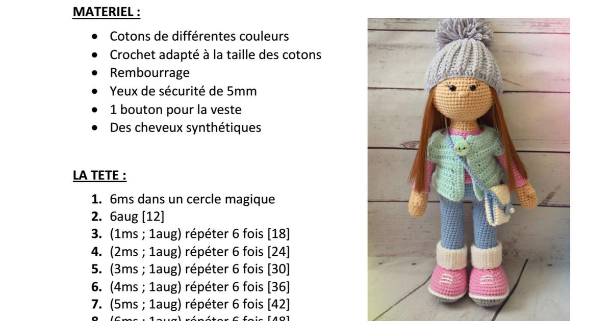 LA-POUPEE-MOLLY-1.pdf | Projets à essayer | Pinterest | Crochet ...